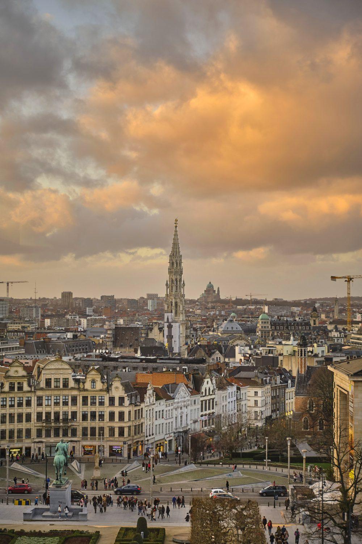 Photographie du Mont des Arts de Bruxelles