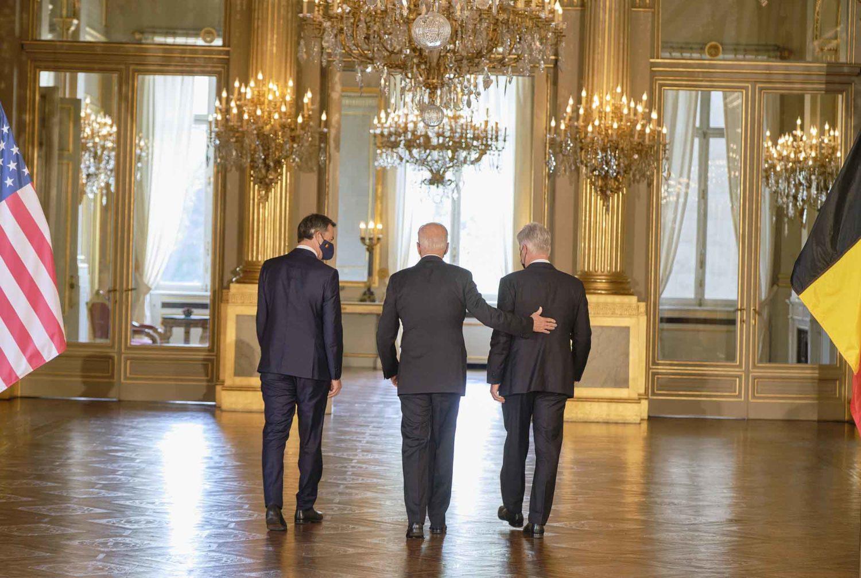 reportage photo sur la visite du préseident américain joe biden